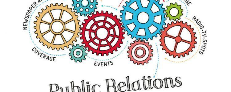 Cogs with public relations rotating together