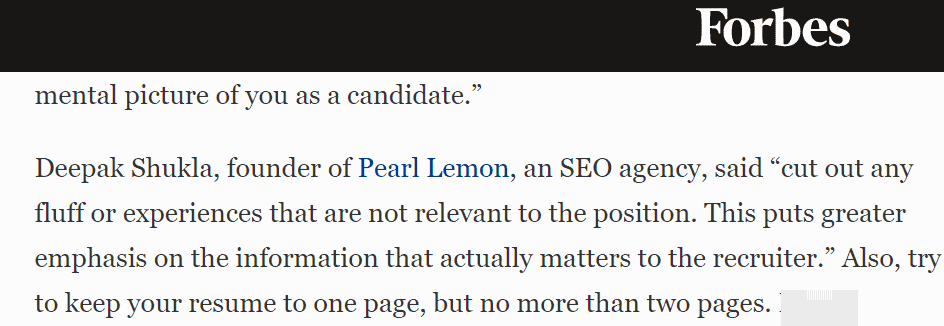 Example of an expert quote by Peal Lemon founder Deepak Shukla in Forbes