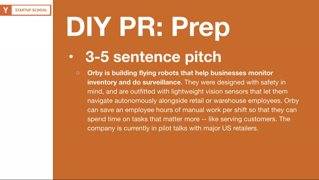 Text from Orby's three-five sentence PR pitch